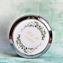 Darčeky pre svadobčanov - zrkadielko Eukalyptus - 10819863_