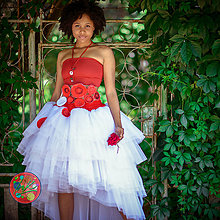 Sukne - Origo svadobná sukňa s opaskom - 10820020_