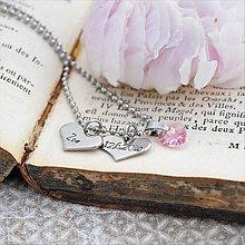Náhrdelníky - Náhrdelník s menom a dátumom - zľava 4€ - 10819764_