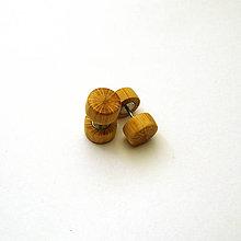Náušnice - Drevené falošné rozťahováky - z bukovej halúzky - 10819247_