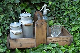 Nábytok - Prenosná drevená debnička - 10819938_