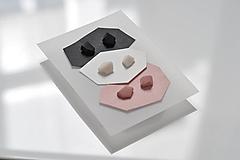 """Náušnice - Set mini náušníc """"black-pink-white"""" - 10821919_"""