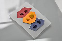 """Náušnice - Set mini náušníc """"burgundy-mustard-navy"""""""" - 10821923_"""