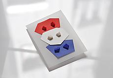 """Náušnice - Set mini náušníc """"blue - white - red"""" - 10821930_"""