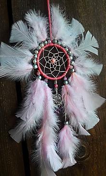 Dekorácie - Lapač snov-Indiánske Slnko -ružové - 10823272_