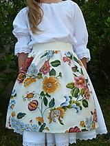Detské oblečenie - Zásterka Plná výšivka - 10823358_