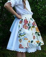 Detské oblečenie - Zásterka Plná výšivka - 10823377_