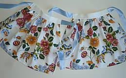 Detské oblečenie - Zásterka Plná výšivka - 10823380_