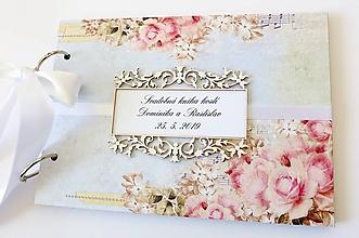 Papiernictvo - svadobná kniha hostí - 10822283_