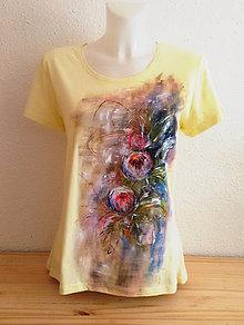 Tričká - Letný abstrakt - kvety - 10822608_