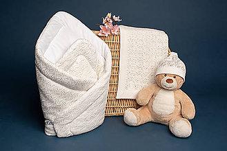 """Textil - Zavinovačka, deka, čiapočka, """"Miss"""", OEKO-TEX® - smotanová - 10824826_"""