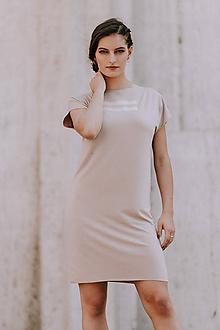 Šaty - FNDLK úpletové šaty 399 RKkL nude - 10822306_