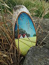 Obrazy - Maľba na drevenom pláte - žitné polia - 10823805_
