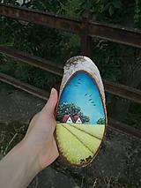 Obrazy - Maľba na drevenom pláte - žitné polia - 10823806_