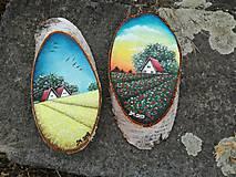Obrazy - Maľba na drevenom pláte - žitné polia - 10823807_