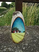 Obrazy - Maľba na drevenom pláte - žitné polia - 10823809_