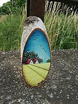 Obrazy - Maľba na drevenom pláte - žitné polia - 10823810_