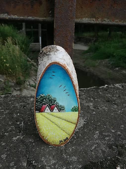 Maľba na drevenom pláte - žitné polia