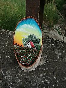 Obrazy - Maľba na drevenom pláte - vlčie maky - 10823779_