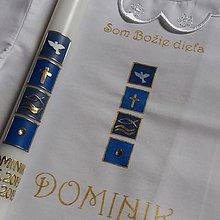 Detské doplnky - krstový set Domenico - 10824097_