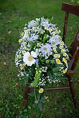 Dekorácie - Aranžmán na mladomanželský stôl - 10824750_