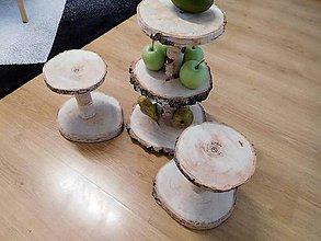 Dekorácie - vintage svadba/stojan na svadobné tortičky 2 - 10823185_