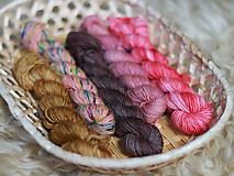 Galantéria - LUCKY DIP Minis set - Ručne farbená priadza - 10824331_