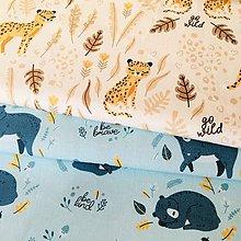 Textil - Leopardy, extra kvalitný 100 % bavlnený satén, šírka 150 cm - 10822028_