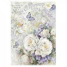 Papier - Ryžový papier Stamperia A4 - 10823569_
