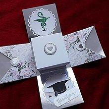 Krabičky - Exploding box k promóciám (Farmaceutka) - 10823389_
