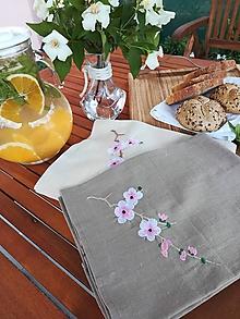 Úžitkový textil - Ľanová kuchynská utierka - 10823789_