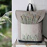- Vyšívaný Batoh poľne kvety tyrkys  - 10823815_