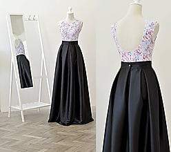 Sukne - Maxi sukňa s vreckami - 10823009_