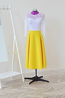 Šaty - Midi spoločenské šaty - 10823429_