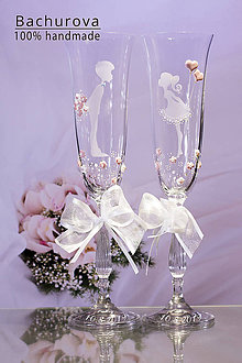 Nádoby - Svadobné poháre na zakázku pre_Ja5 - 10824899_