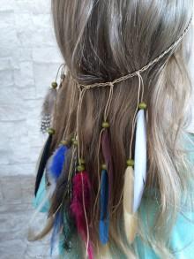 Ozdoby do vlasov - Ozdoba do vlasov - pierka - 10823757_