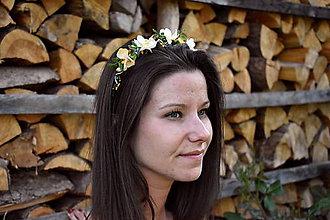 Ozdoby do vlasov - čelenka z drobného kvítí - 10823453_