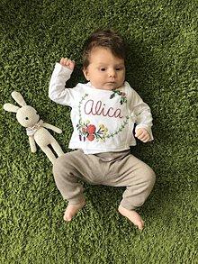 Detské oblečenie - Novorodenecká košieľka s menom - 10824194_