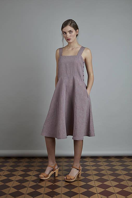 Šaty - ľanové šaty VERA - zľava - 10823747_