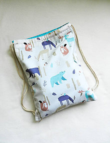 Detské tašky - Batoh lesné zvieratká 3-6r. - 10824976_