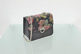 Kabelky - Kožená kabelka KATI mini čierna - 10824055_
