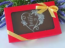 Drobnosti - Čokoládová pohľadnica pre pani učiteľku - 10823475_
