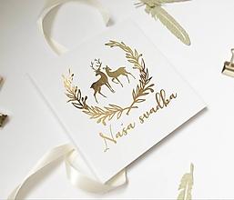 Papiernictvo - Svadobná kniha hostí Deer Love - 10823408_