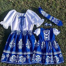 Šaty - Rodinný folklórny komplet pre mamu, otca a deti - 10824177_