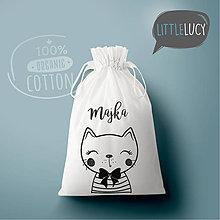 Iné tašky - Vrecko LiLu - mačička II s menom - 10823941_