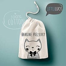 Iné tašky - Vrecko LiLu - mačička II s textom - 10823974_