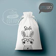 Iné tašky - Vrecko LiLu - zajačik III s menom - 10824003_