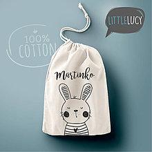 Iné tašky - Vrecko LiLu - zajačik II s menom - 10824071_