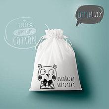 Iné tašky - Vrecko LiLu - sovička s textom - 10824090_