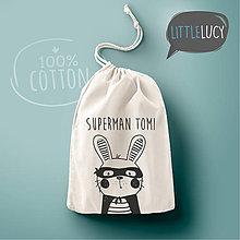 Iné tašky - Vrecko LiLu - zajačik I s textom - 10824120_